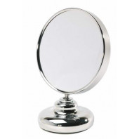 Miroir double face diamètre 12 cm sur pied - face grossissante X8