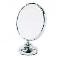 Miroir double face diamètre 15 cm sur pied - face grossissante X8